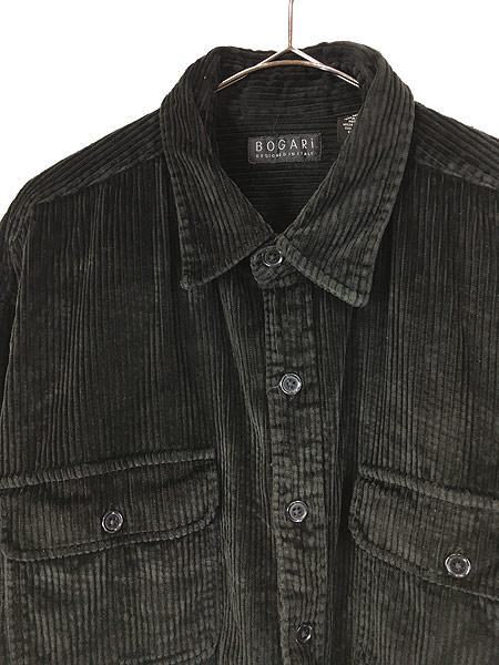 [2] 古着 90s BOGARI ブラック ベロア ベルベット ビッグサイズ ジャケット XL 古着