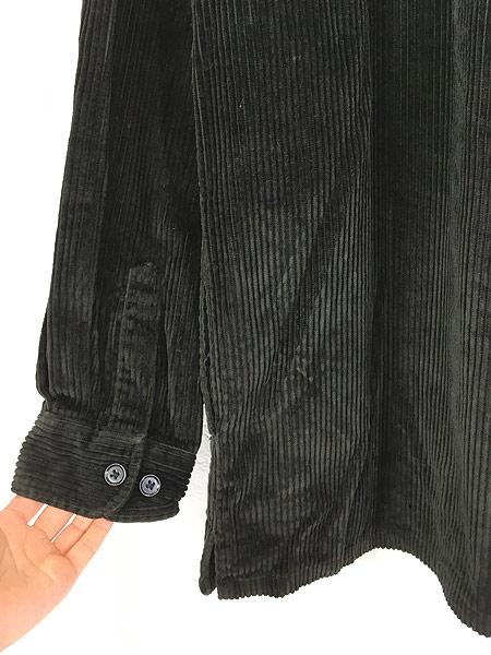 [5] 古着 90s BOGARI ブラック ベロア ベルベット ビッグサイズ ジャケット XL 古着