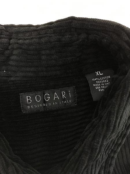 [6] 古着 90s BOGARI ブラック ベロア ベルベット ビッグサイズ ジャケット XL 古着