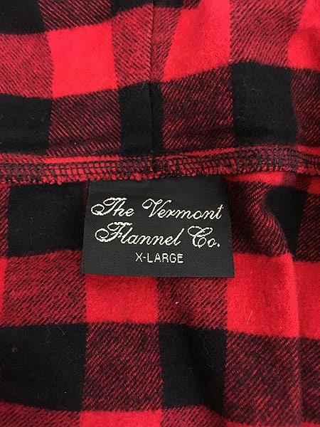 [7] 古着 80s USA製 The Vermont Flannel バッファロー チェック フランネル アノラック パーカー XL 古着