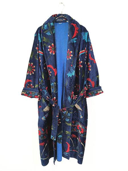 [1] 古着 80s Smithsonian 民族 ネイティブ パターン パイル ガウン コート 羽織 One Size 古着
