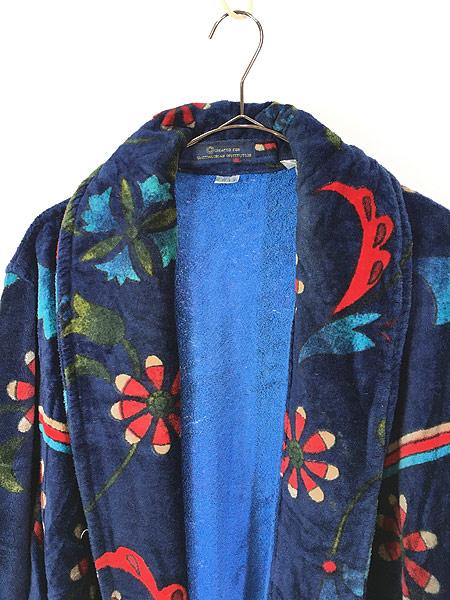 [2] 古着 80s Smithsonian 民族 ネイティブ パターン パイル ガウン コート 羽織 One Size 古着