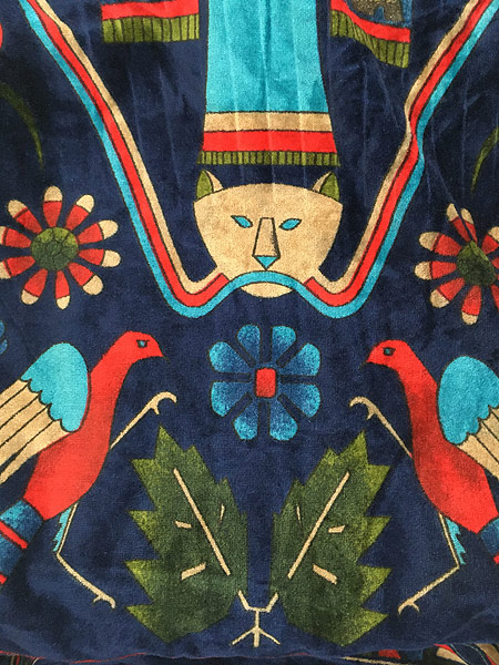 [6] 古着 80s Smithsonian 民族 ネイティブ パターン パイル ガウン コート 羽織 One Size 古着