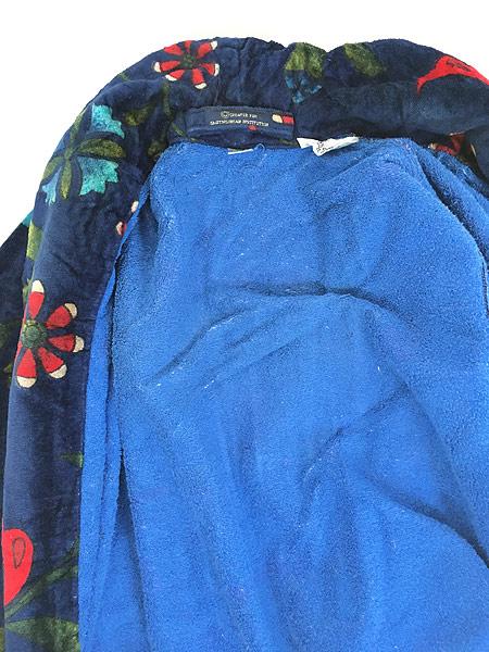[7] 古着 80s Smithsonian 民族 ネイティブ パターン パイル ガウン コート 羽織 One Size 古着