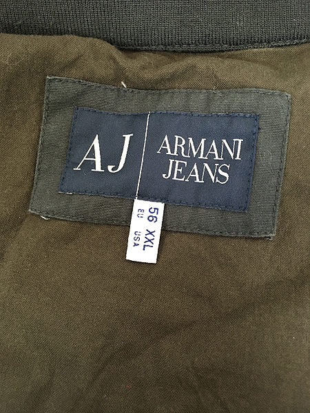 [8] 古着 ARMANI JEANS ワンポイント コットン ドリズラー ジャケット XXL ブランド 古着