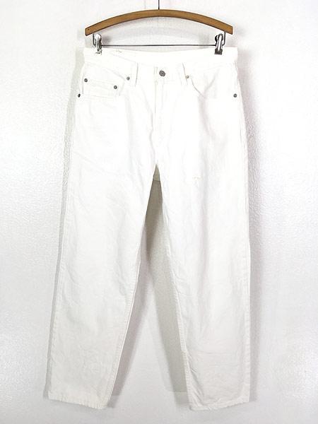 [1] 古着 00s USA製 Levi's 550 ホワイト デニム パンツ ジーンズ テーパード W34 L30 古着