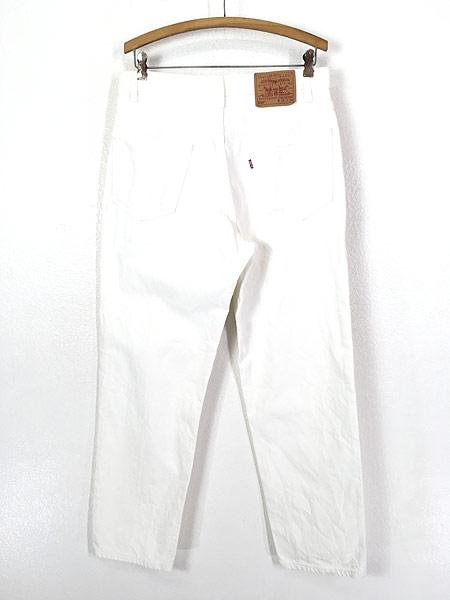 [3] 古着 00s USA製 Levi's 550 ホワイト デニム パンツ ジーンズ テーパード W34 L30 古着