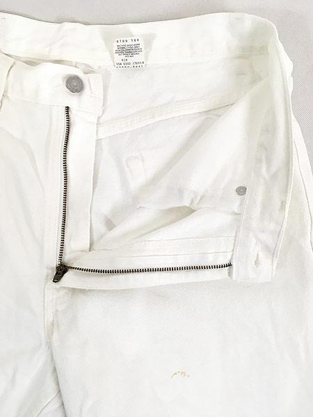 [6] 古着 00s USA製 Levi's 550 ホワイト デニム パンツ ジーンズ テーパード W34 L30 古着