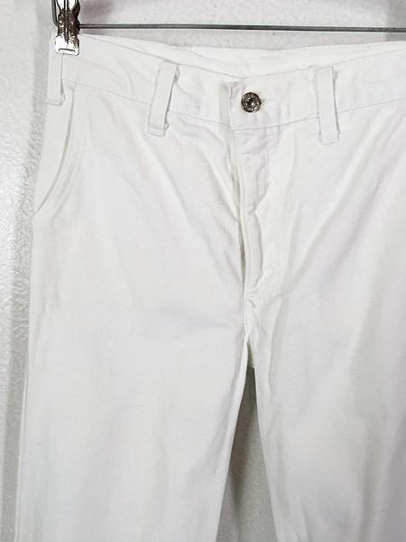 [2] 古着 70s Levi's ホワイト コットンツイル フレア パンツ Talon42 W29.5 L31 古着