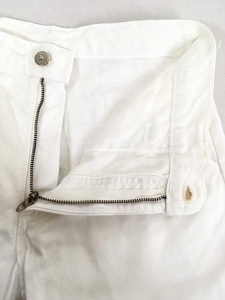 [6] 古着 70s Levi's ホワイト コットンツイル フレア パンツ Talon42 W29.5 L31 古着