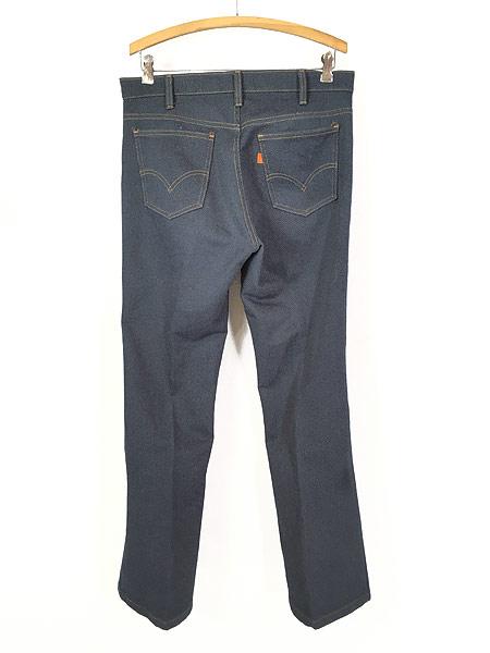 [3] 古着 80s USA製 Levi's 517 デニム ルック スラックス パンツ ブーツカット W34 L31 古着