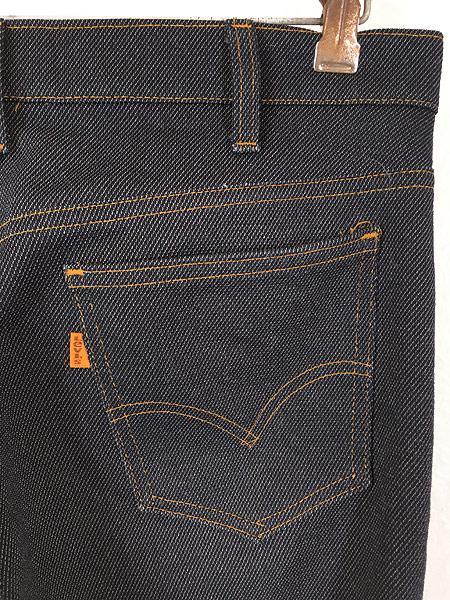 [4] 古着 80s USA製 Levi's 517 デニム ルック スラックス パンツ ブーツカット W34 L31 古着