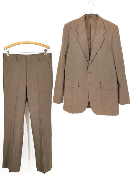 [1] 古着 70s Levi's STA-PREST 「Action Suit & Slacks」 スタプレ ジャケット & スラックス セットアップ 40L 古着