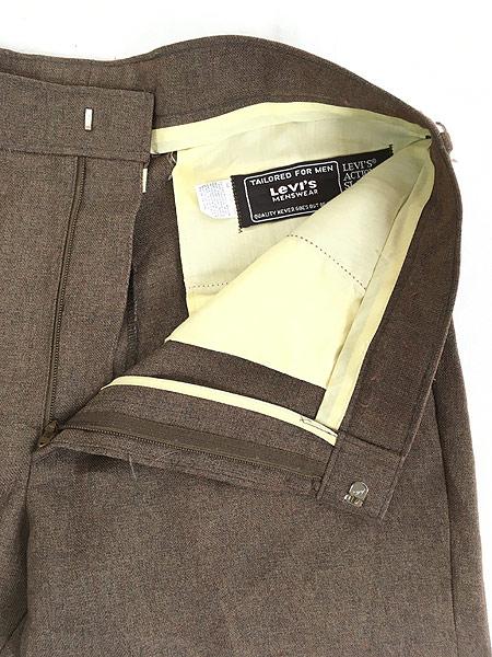 [8] 古着 70s Levi's STA-PREST 「Action Suit & Slacks」 スタプレ ジャケット & スラックス セットアップ 40L 古着