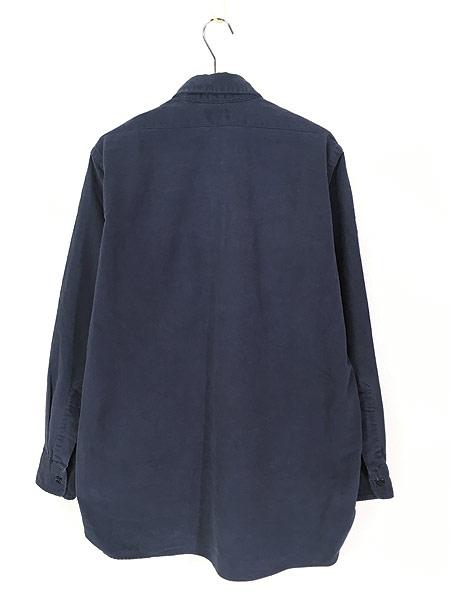 [3] 古着 80s USA製 LL Bean シャモアクロス フランネル シャツ ネルシャツ 15 1/2 古着
