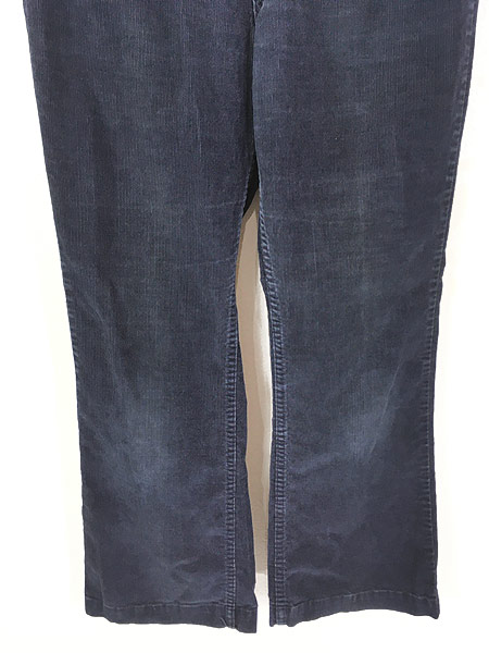 [3] 古着 70s Levi's 646 オールド コーデュロイ パンツ コーズ ベルボトム 紺 W33 L30 古着
