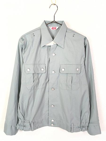 [1] 「Deadstock」 古着 80s 東ドイツ軍 NVA 人民海軍 ミリタリー グレー ドレス シャツ 40N 古着