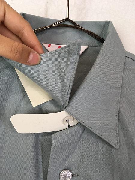 [3] 「Deadstock」 古着 80s 東ドイツ軍 NVA 人民海軍 ミリタリー グレー ドレス シャツ 40N 古着