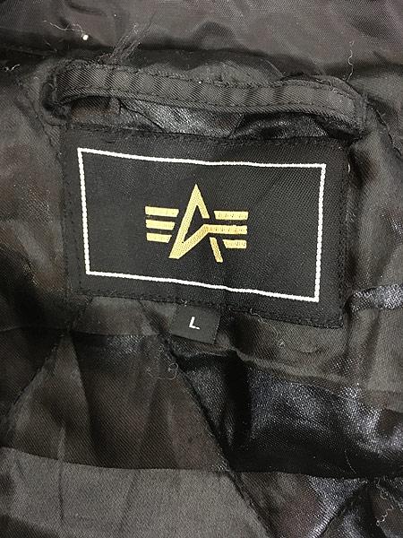 [8] 古着 ALPHA製 CWU 45/P ミリタリー パデット フライト ジャケット 黒 L 古着