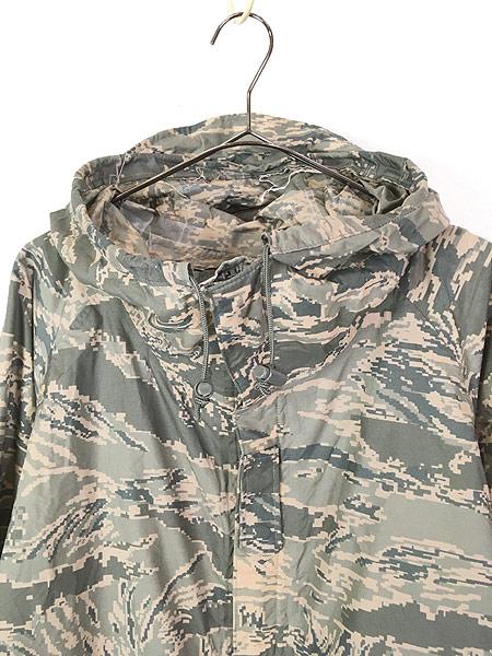[2] 古着 00s 米軍 USAF ABU デジタルカモ 迷彩 「IMPROVED RAINSUIT」 ミリタリー レイン パーカー M 古着