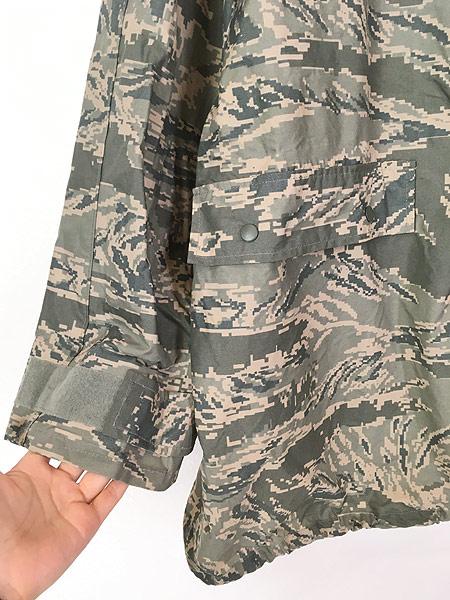 [3] 古着 00s 米軍 USAF ABU デジタルカモ 迷彩 「IMPROVED RAINSUIT」 ミリタリー レイン パーカー M 古着
