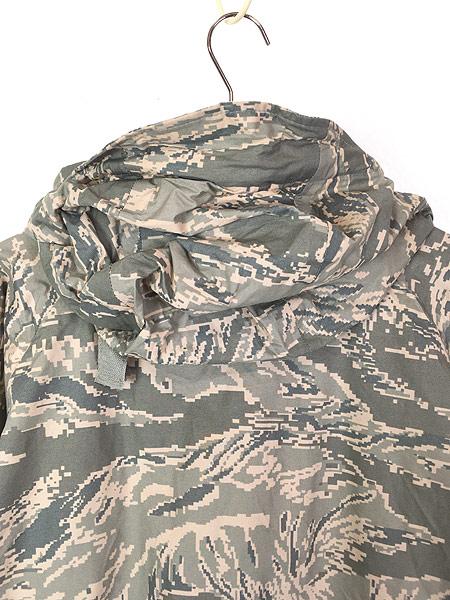 [5] 古着 00s 米軍 USAF ABU デジタルカモ 迷彩 「IMPROVED RAINSUIT」 ミリタリー レイン パーカー M 古着