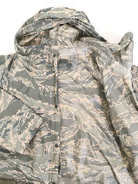 [6] 古着 00s 米軍 USAF ABU デジタルカモ 迷彩 「IMPROVED RAINSUIT」 ミリタリー レイン パーカー M 古着