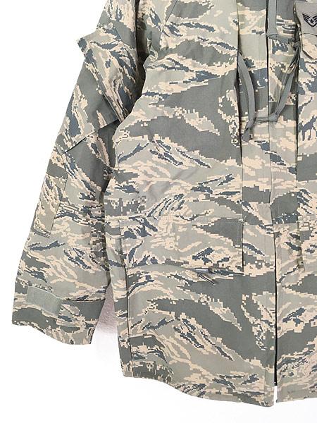 [4] 古着 00s 米軍 USAF タイガー ストライプ カモ 迷彩 GEN3 GORE-TEX ゴア パーカー APECS S-S!! 古着