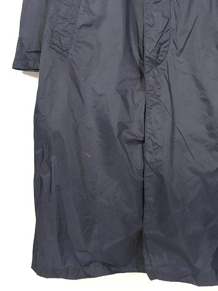 [3] 古着 70s 米軍 USAF 「LIGHTWEIGHT BLUE」 ミリタリー 防水 ナイロン レイン コート 40R 古着