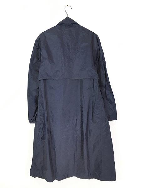 [5] 古着 70s 米軍 USAF 「LIGHTWEIGHT BLUE」 ミリタリー 防水 ナイロン レイン コート 40R 古着