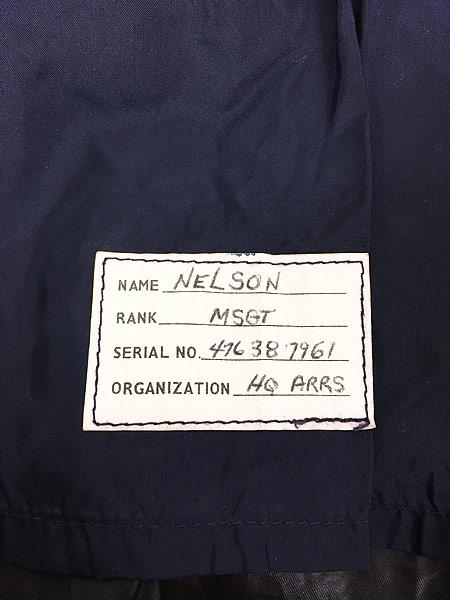 [7] 古着 70s 米軍 USAF 「LIGHTWEIGHT BLUE」 ミリタリー 防水 ナイロン レイン コート 40R 古着