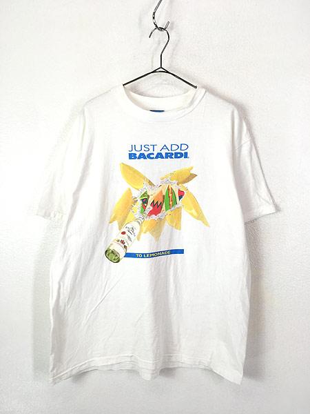 [1] 古着 90s USA製 BACARDI バカルディ ラム リキュール Tシャツ XL 古着