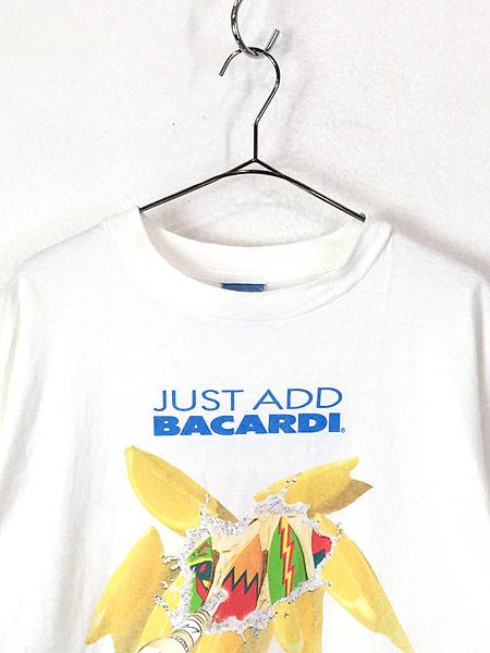 [2] 古着 90s USA製 BACARDI バカルディ ラム リキュール Tシャツ XL 古着