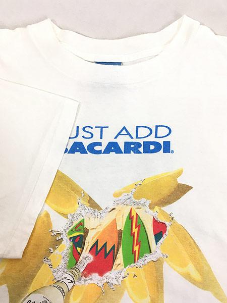 [4] 古着 90s USA製 BACARDI バカルディ ラム リキュール Tシャツ XL 古着