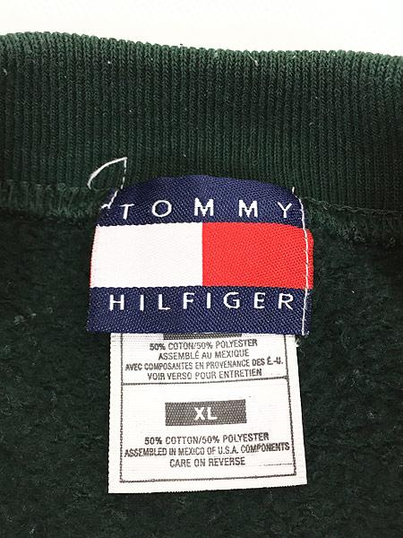[5] 古着 90s TOMMY HILFIGER サークル ロゴ スウェット トレーナー XL 古着