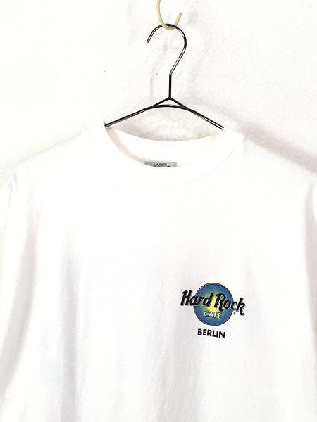[2] 古着 Hard Rock Cafe 「BERLIN」 ポップアート ハードロック Tシャツ L 古着