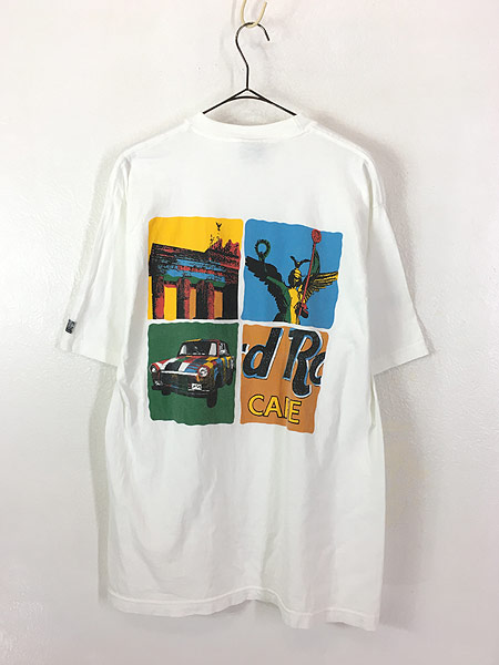 [3] 古着 Hard Rock Cafe 「BERLIN」 ポップアート ハードロック Tシャツ L 古着