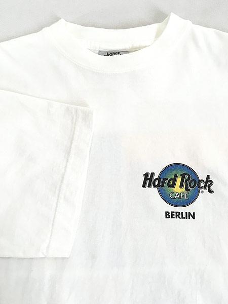 [4] 古着 Hard Rock Cafe 「BERLIN」 ポップアート ハードロック Tシャツ L 古着