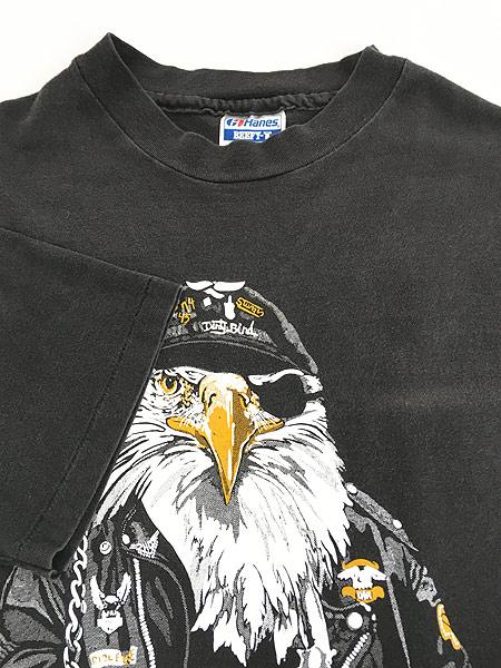 [5] 古着 90s USA製 STURGIS スタージス イーグル バイカー Tシャツ 黒 XL 古着
