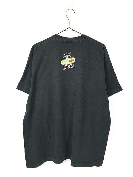 [3] 古着 90s USA製 Mountain Dew 「Extreme Network」 ドリンク Tシャツ XL 古着