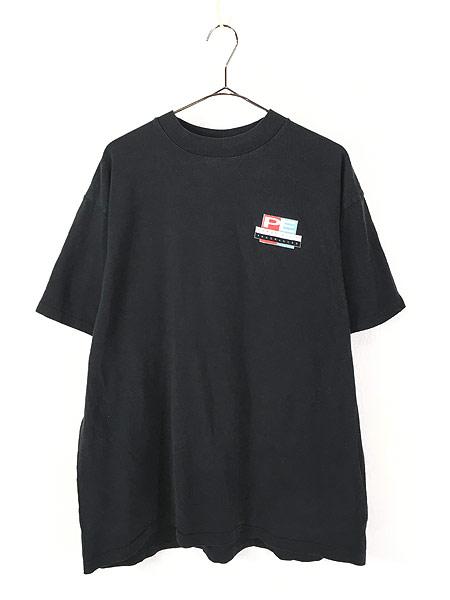 [1] 古着 90s USA製 PERRY ELLIS 「FRAGRANCES」 両面 Tシャツ 黒 XL 古着