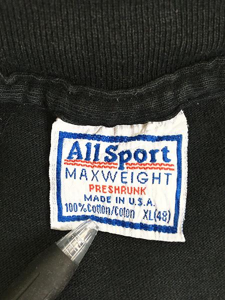 [6] 古着 90s USA製 PERRY ELLIS 「FRAGRANCES」 両面 Tシャツ 黒 XL 古着