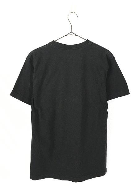 [3] 古着 Stussy ステューシー BIG ネオン ロゴ Tシャツ 黒 M 古着