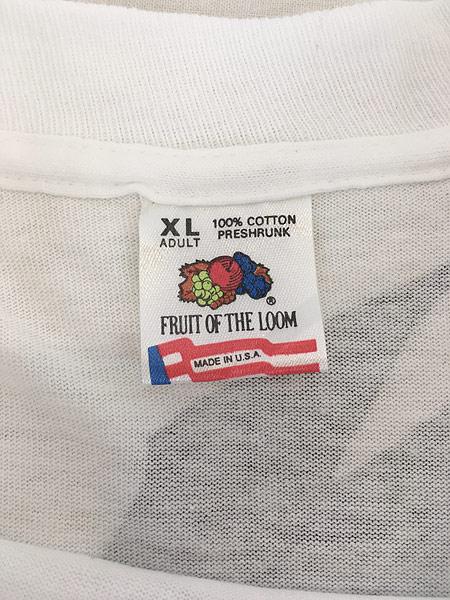 [5] 古着 90s USA製 Marlboro F1 チェッカー フラッグ ポケット Tシャツ ポケT XL 古着