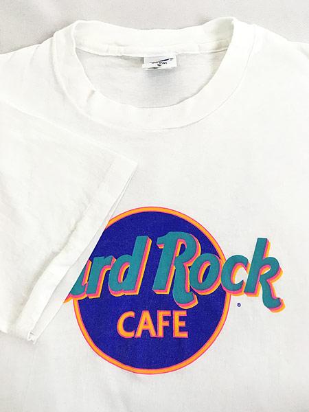 [4] 古着 90s USA製 Hard Rock Cafe 「TEL AVIV」 BIGロゴ ハードロック Tシャツ L 古着