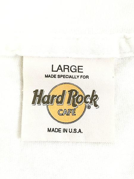 [5] 古着 90s USA製 Hard Rock Cafe 「NASHVILLE」 BIGロゴ ハードロック Tシャツ L 古着