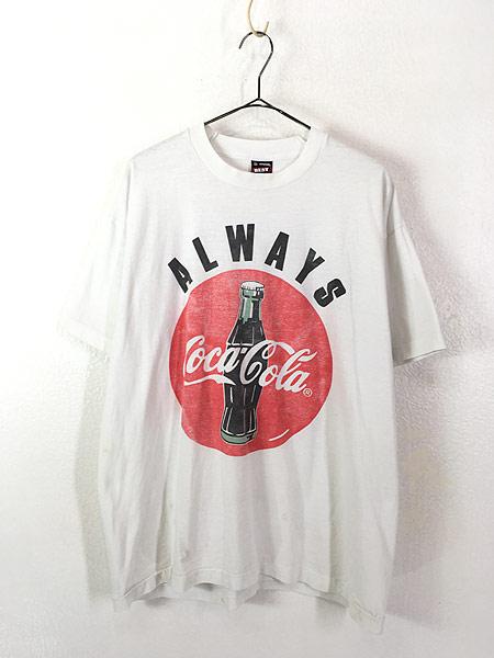 [1] 古着 90s USA製 Coca Cola コーラ BIG クラシック ロゴ Tシャツ XL 古着