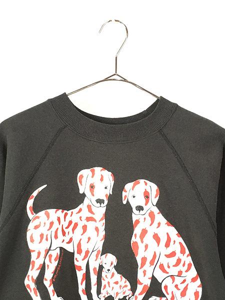 [2] 古着 90s USA製 「CHILE DOG」 犬 ワンちゃん ポップ アート スウェット M 古着