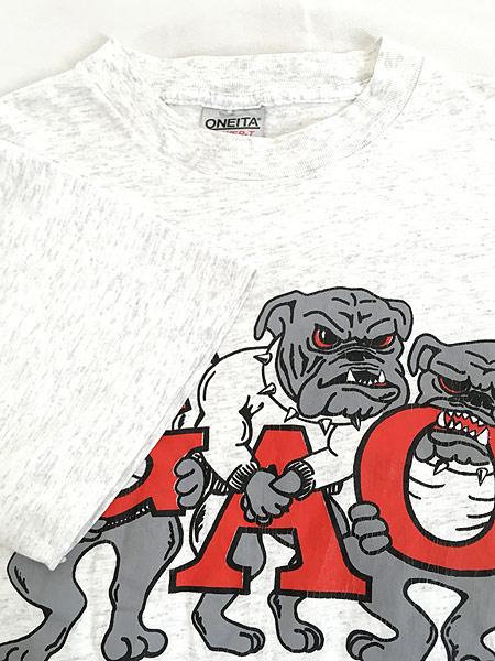 [4] 古着 90s USA製 「WATCH DOGS」 強面 ブルドッグ 犬 ワンちゃん Tシャツ L 古着