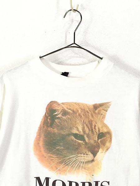 [2] 古着 80s MORRIS 猫 ネコ フォト ピクチャー アニマル Tシャツ XL 古着
